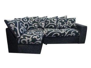 Samantha Black And Grey Left Hand Corner Sofa