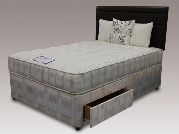 Spencer double divan set with 2 drawers and headboard only for Divan bed with drawers