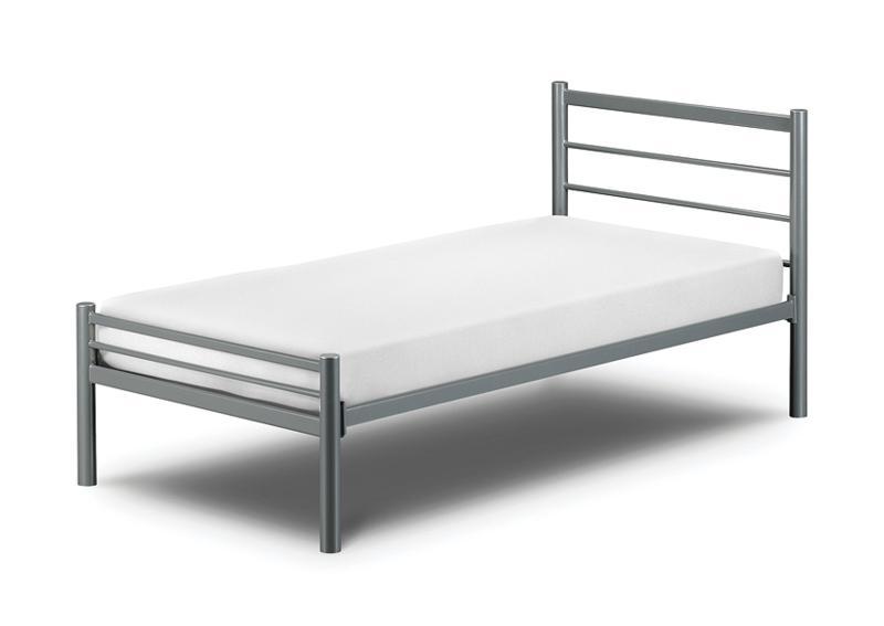julian bowen alpen 2ft6 small double metal frame 79 - Metal Frames For Beds