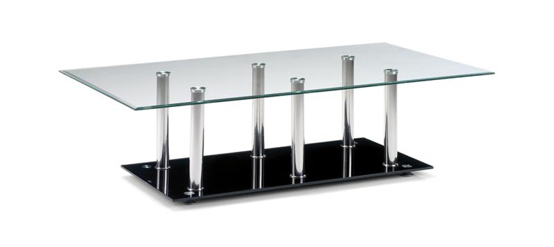 JULIAN BOWEN Aplha Chrome & Glass Coffee Table
