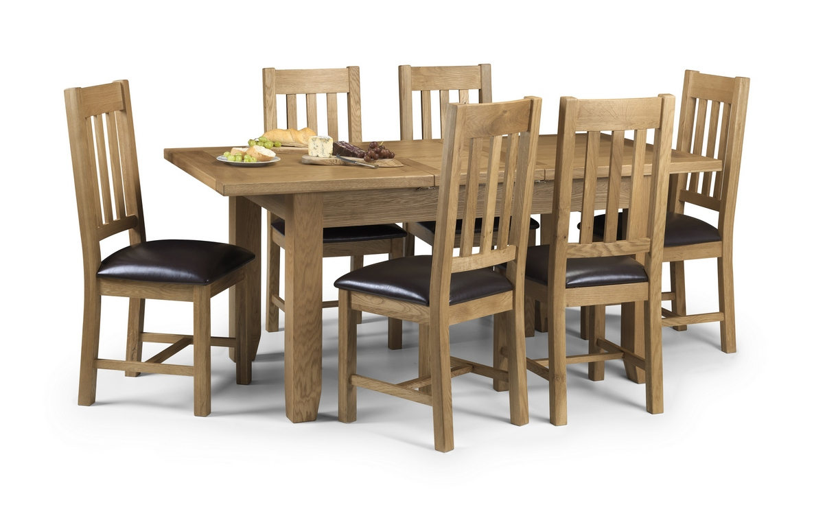 Julian Bowen Astoria Extending Oak Dining Table and Chairs £649