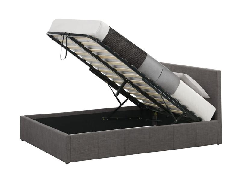 Birlea Berlin 4ft6 Double Fabric Ottoman Bed Frame In Grey