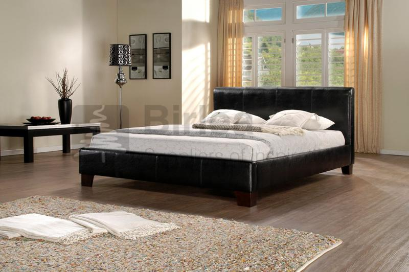 birlea brooklyn black faux leather bed frame