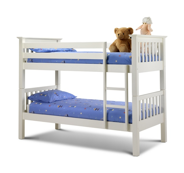 Julian Bowen Barcelona Stone White Wooden Bunk Bed £299
