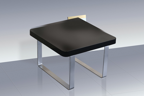 LPD Accent Black High Gloss End/Lamp Table