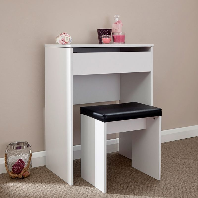 GFW Compact Dressing Table in White £87.99