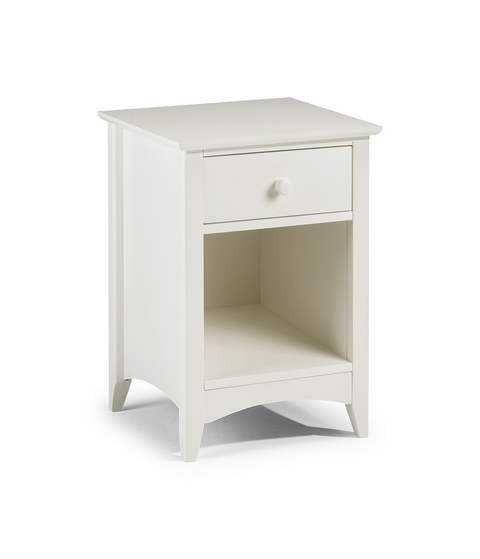 JULIAN BOWEN Stone White Cameo 1 Drawer Bedside £94.99