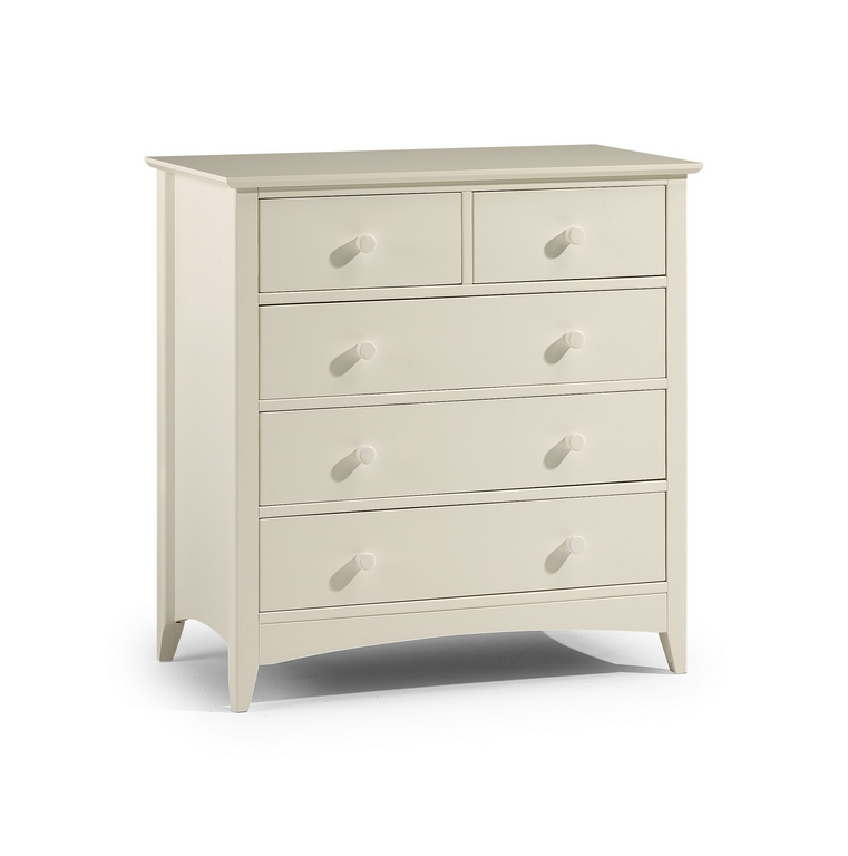 JULIAN BOWEN Stone White Cameo 3 + 2 Drawer Chest £189