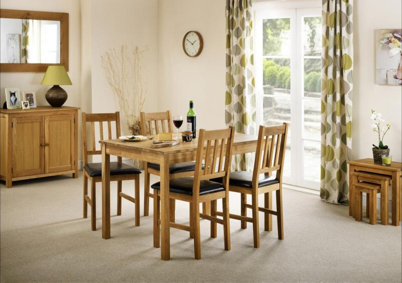 JULIAN BOWEN Coxmoor American White Oak Dining Table and 4 Chairs