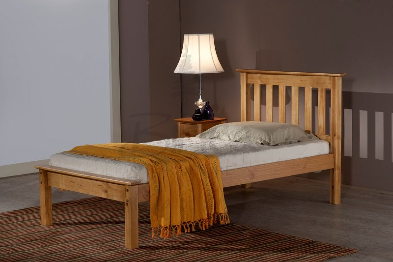 BIRLEA Denver 3ft Single Pine Wooden Frame Bed £149