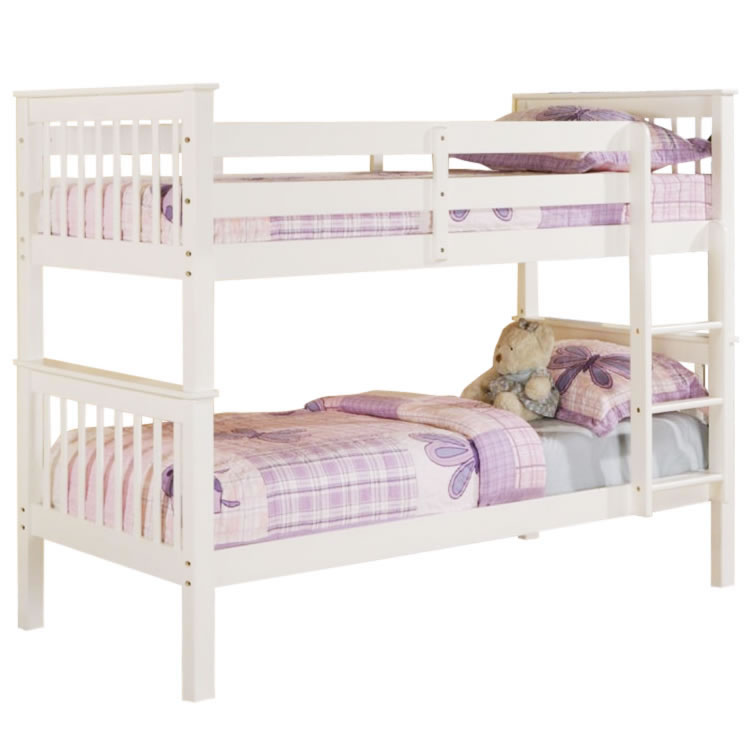 Devon White Bunk Beds Beds Direct Warehouse Gainsborough