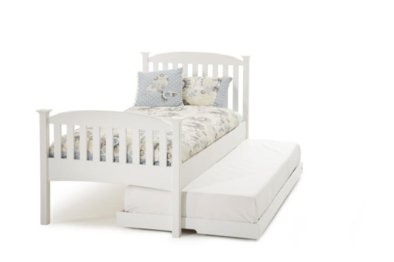 Serene Eleanor Opal White Wooden Guest Bed Frame £359