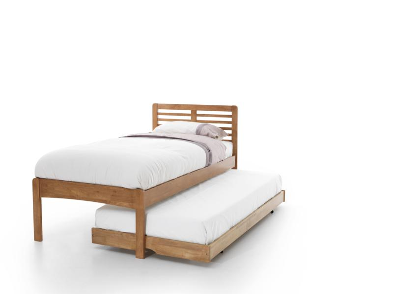 Serene Esther Honey Oak Wooden Guest Bed frame