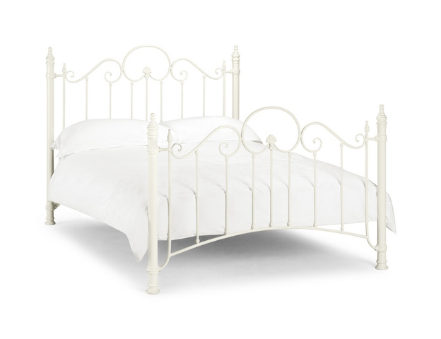 Julian Bowen Florence Stone White Metal Frame from £159, Beds Direct ...