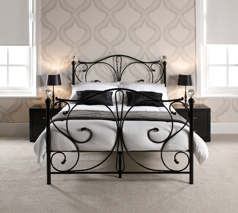 LPD Florence 4ft6 Double Black Metal Frame Bed £178.54