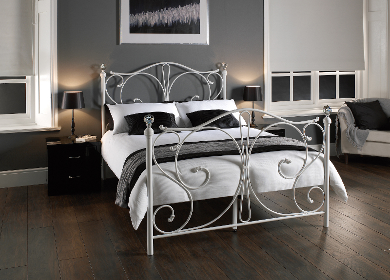 LPD Florence 3ft Single White Metal Frame Bed £147.28