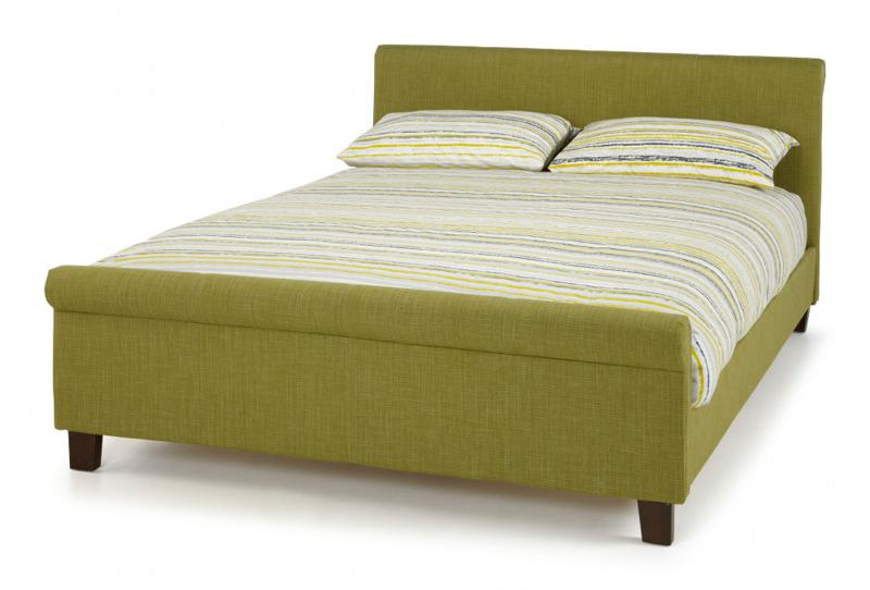 SERENE FURNISHINGS Hazel Fabric Upholstered Bed Frame in Olive Green from £229