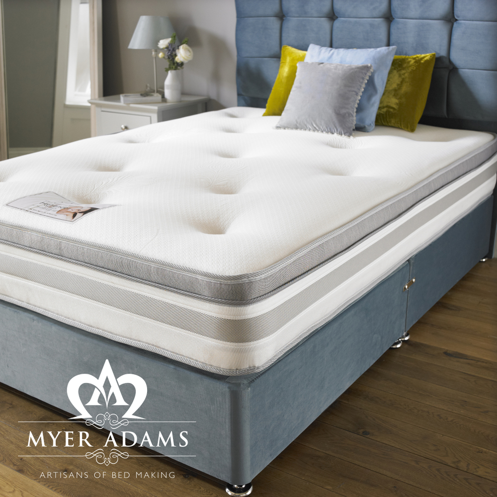 "SPECIAL! Highlander 4ft6  Ortho Divan Set with 2 Drawers and 24"" Headboard only £299!!"