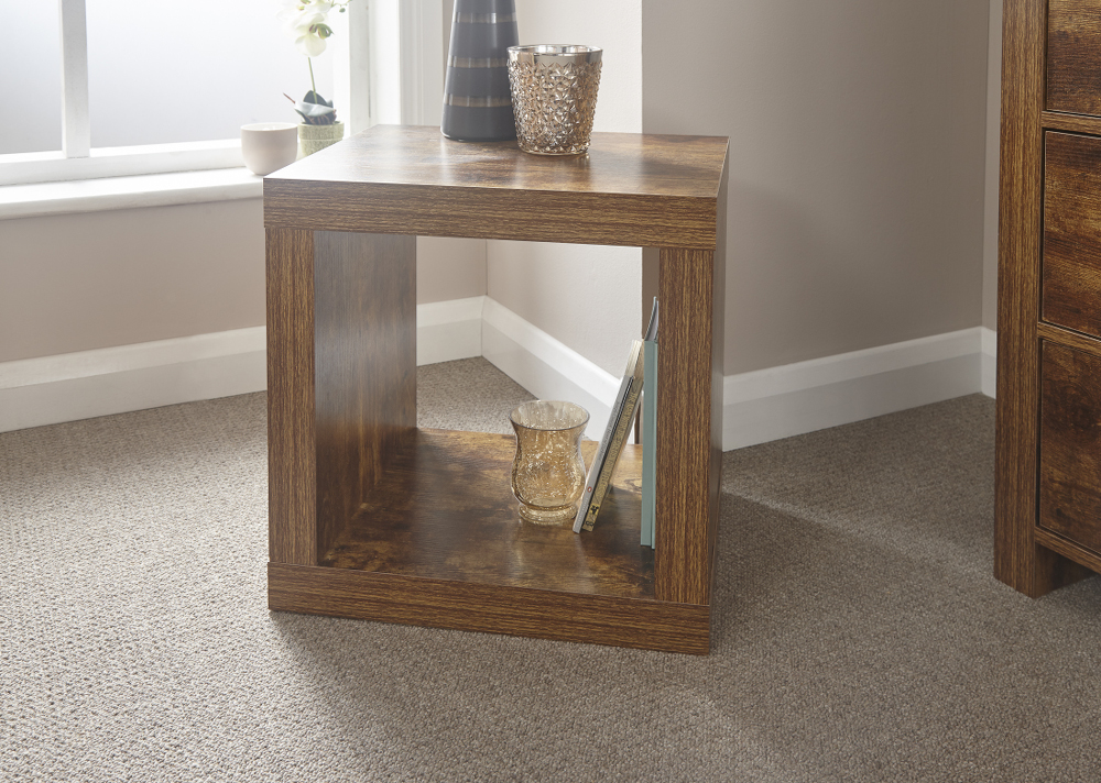Jakarta Cube Table £49, Beds Direct Warehouse, Gainsborough, Lincolnshire