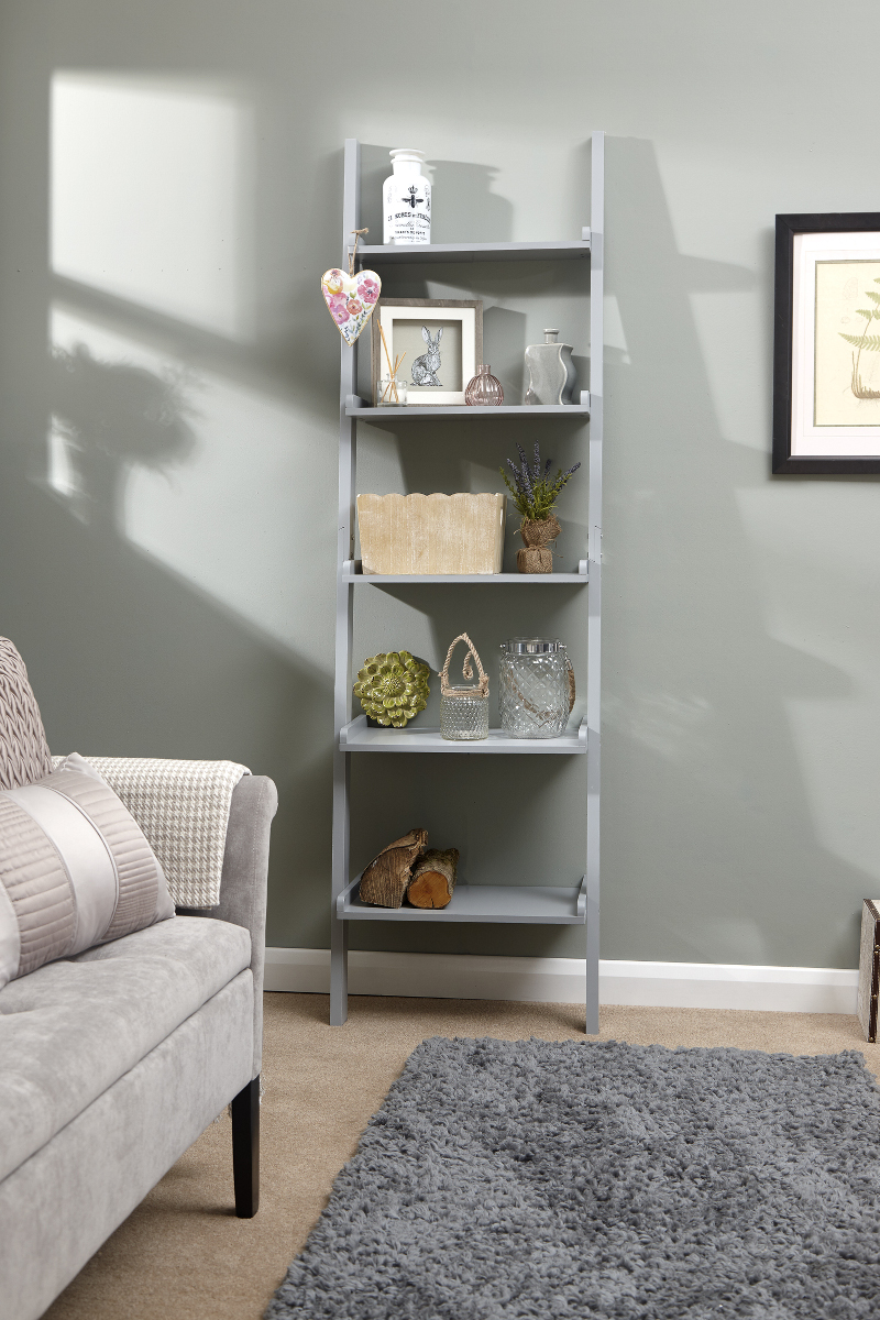 Ladder Style Wall Rack in Grey £49