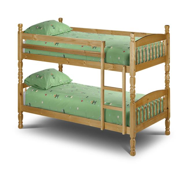 Julian Bowen Lincoln Pine Wooden Bunk Bed from £209