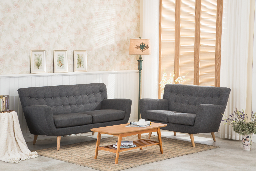 birlea loft 2 seater sofa in grey 299 beds direct warehouse gainsborough lincolnshire. Black Bedroom Furniture Sets. Home Design Ideas