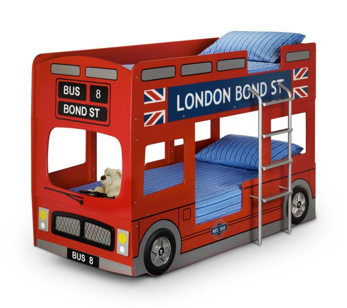 JULIAN BOWEN RED LONDON BUS BUNK BEDS from £349