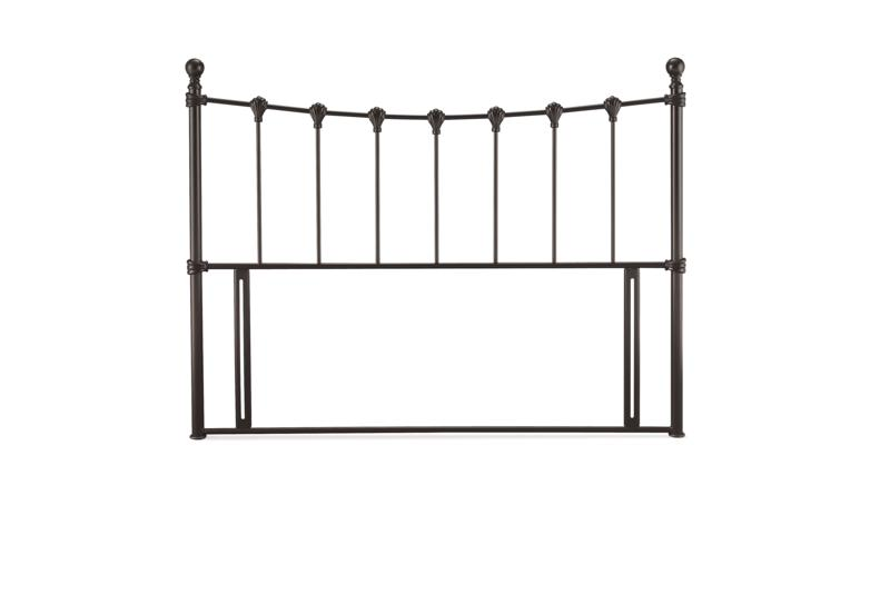 SERENE FURNISHINGS Marseilles Black Metal Headboard