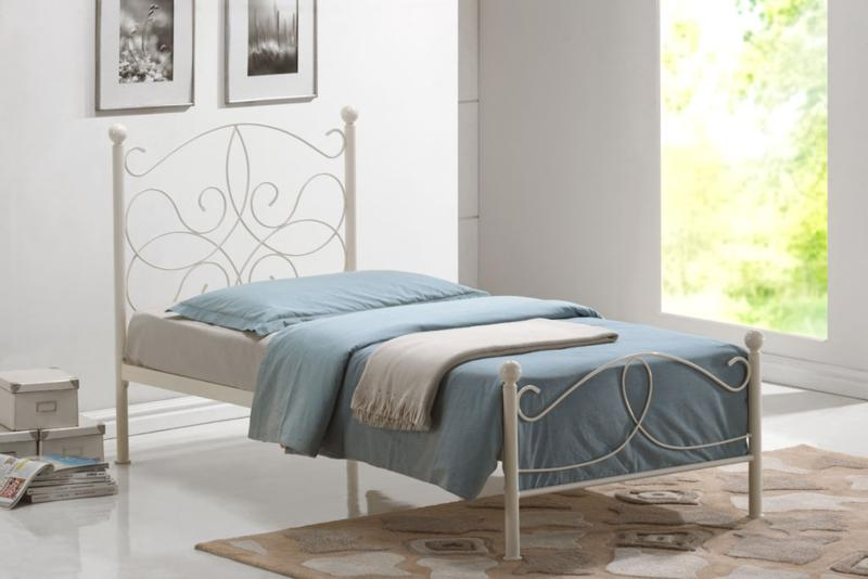 Melissa Cream Metal Frame and Mattress Deal