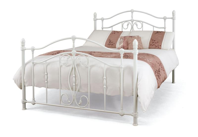 Serene Nice White Metal Frame Bed from £199, Beds Direct Warehouse ...