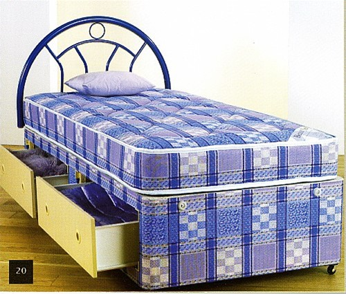 SLEEPTIMES Oxford Light Quilt Divan Bed from £119