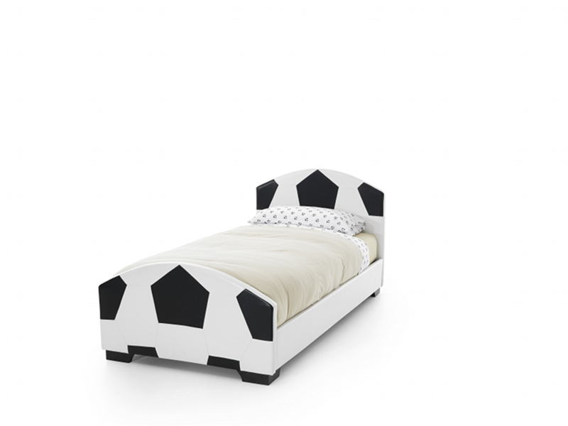 Serene Furnishings Pallone Faux Leather Soccer Bed Frame by Serene Furnishings
