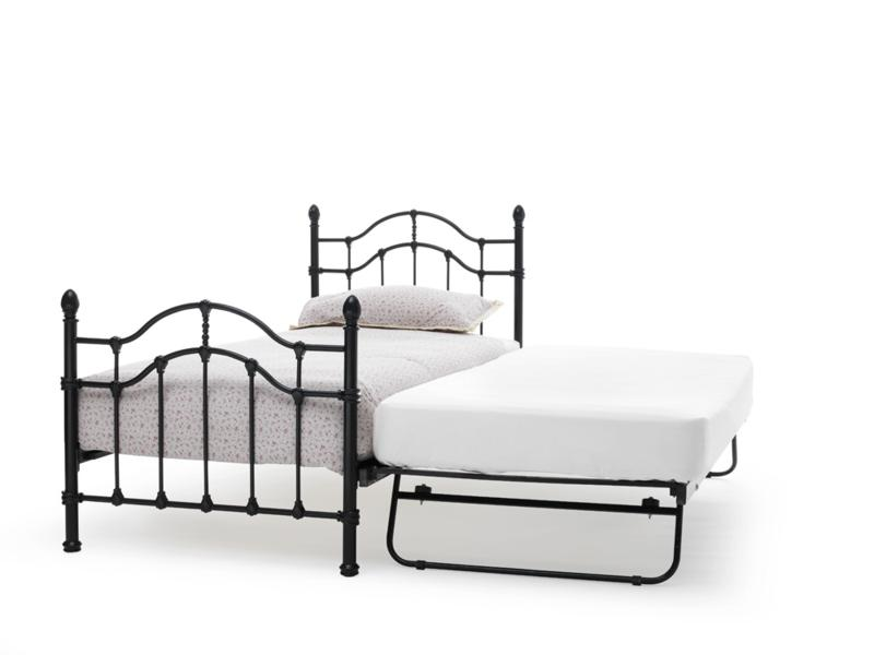 Serene Paris black metal frame guest bed £179