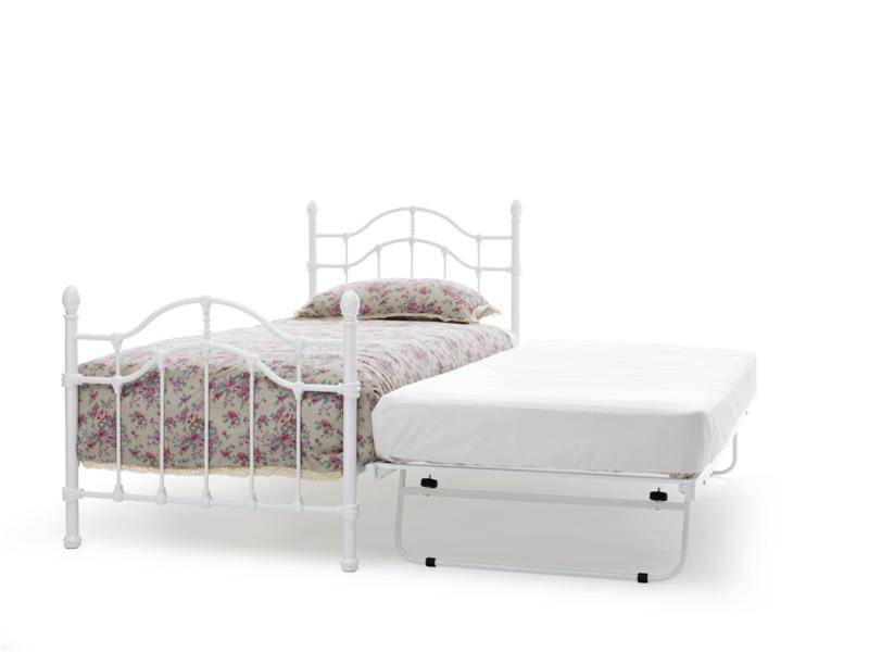serene paris white metal frame guest bed £194.99