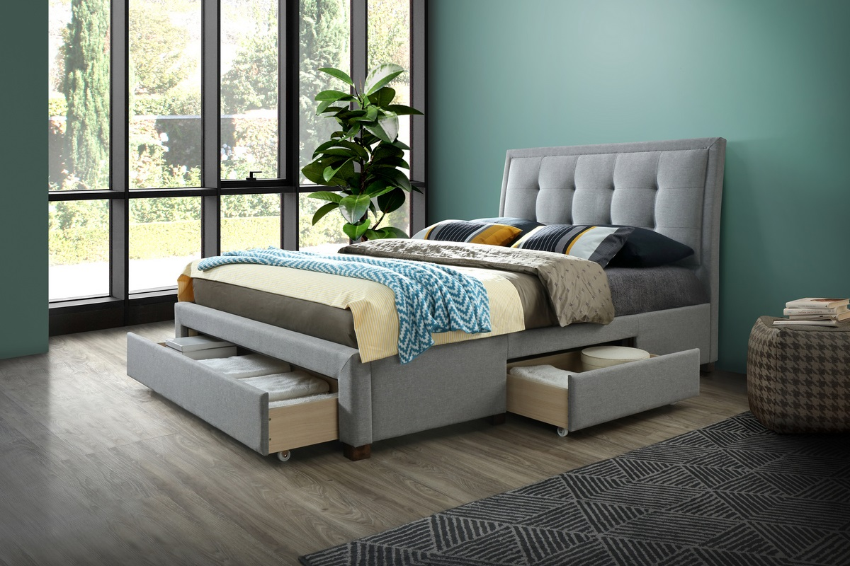 Birlea Shelby 4ft6 Double Storage Bed Frame in Grey £349