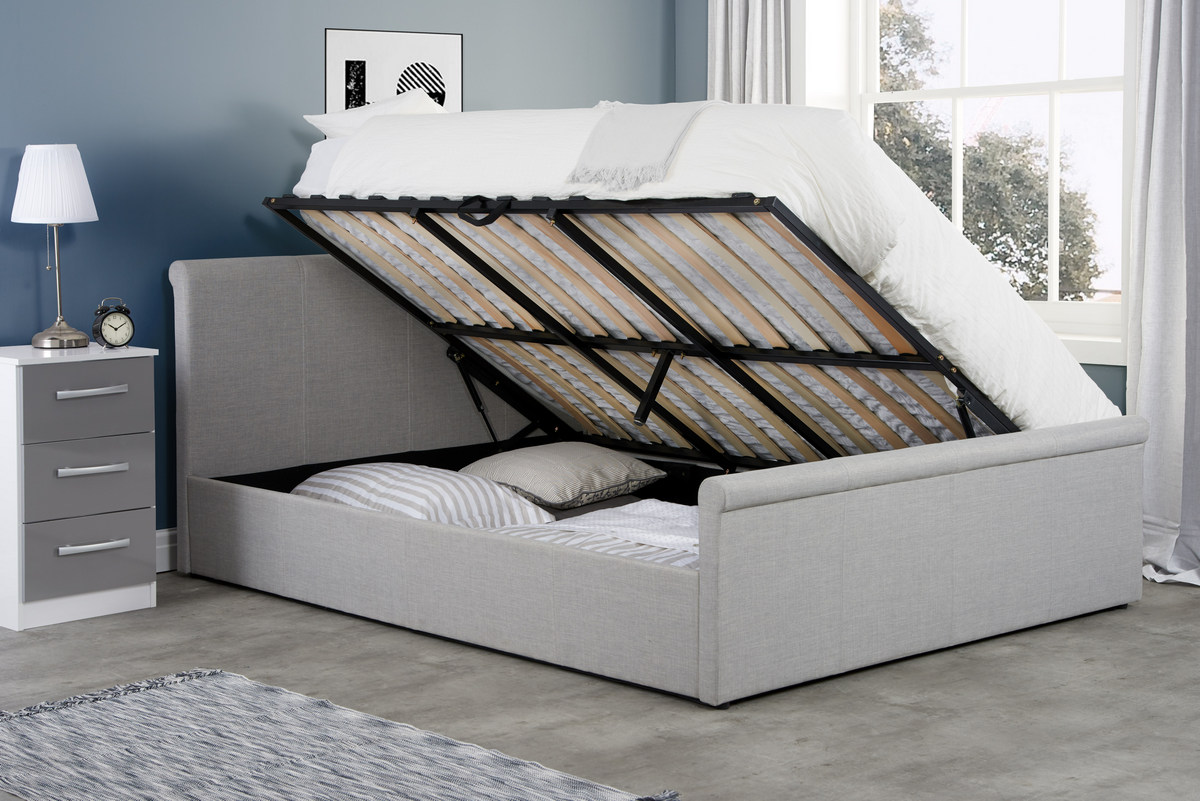 Stratus Ottoman Storage Bed Frame in Grey from £279