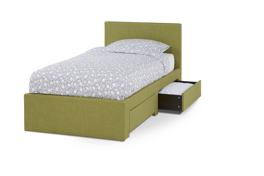 Serene Scarlett 3ft Single Upholstered Olive Two Drawer Bed Frame £259