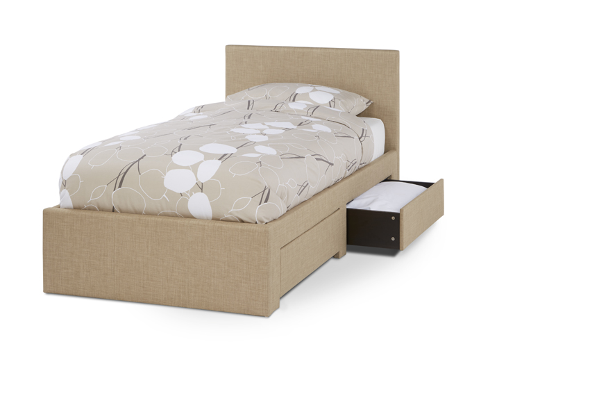 Serene Scarlett 3ft Single Upholstered Wholemeal Two Drawer Bed Frame £259