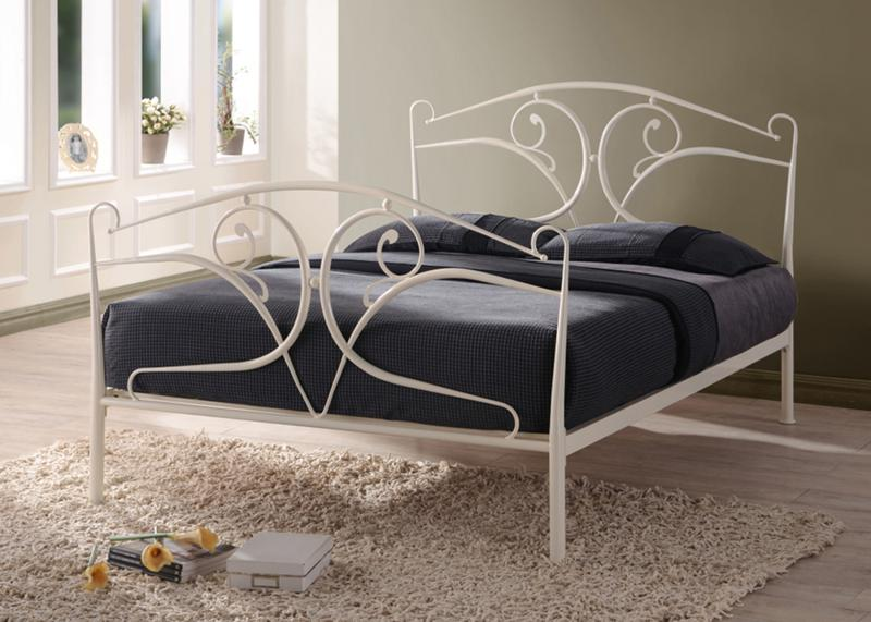 TIME LIVING Seline Ivory Wrought Metal Bed Frame FREE DELIVERY