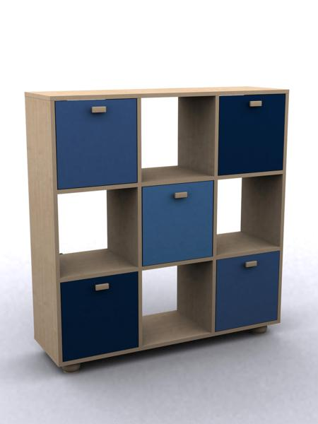 GFW SYDNEY Childrens Blue 3x3 Cube Storage Unit