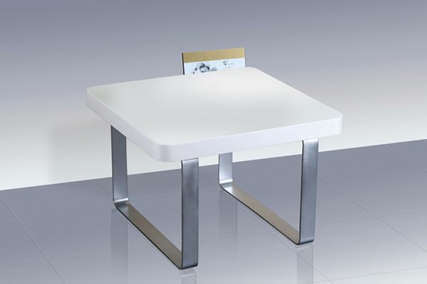 Accent White High Gloss End/Lamp Table