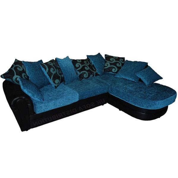 Amy Teal Right Hand Corner Sofa
