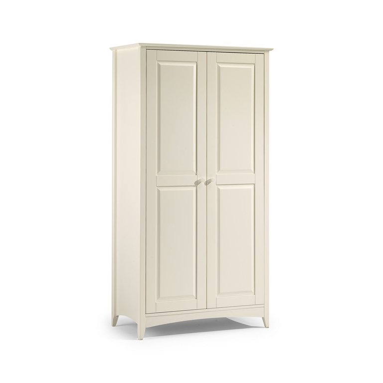 JULIAN BOWEN Stone White Cameo 2 Door Wardrobe All Hanging £299