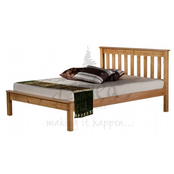BIRLEA Denver 4ft small double Pine Wooden Frame Bed £189