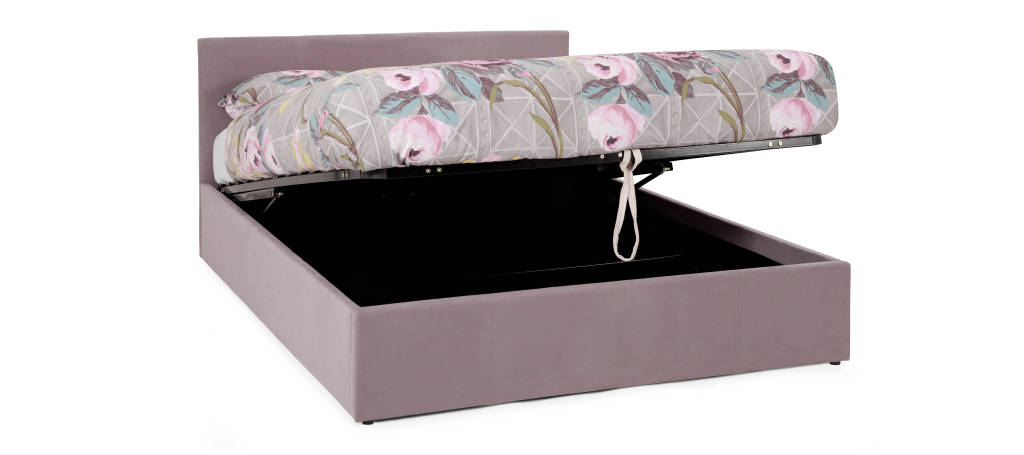 Serene Evelyn Ottoman Lift Up Bed Frame in Lavender from £229