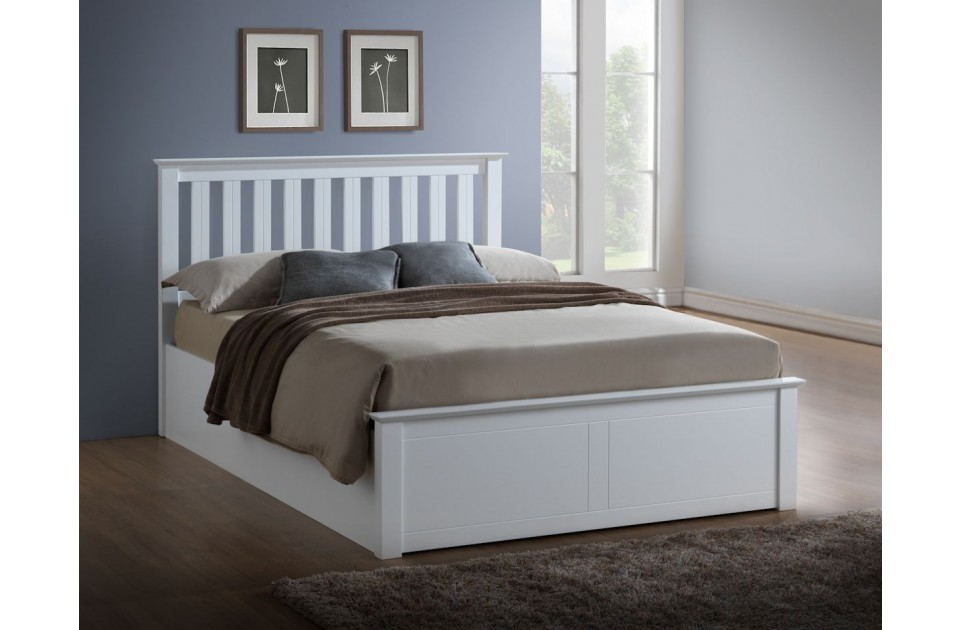 Birlea Phoenix White Wooden Ottoman Storage Frame from £309