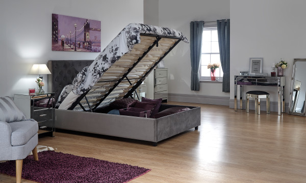 Utah Ottoman Bed storage bed in Grey from £299