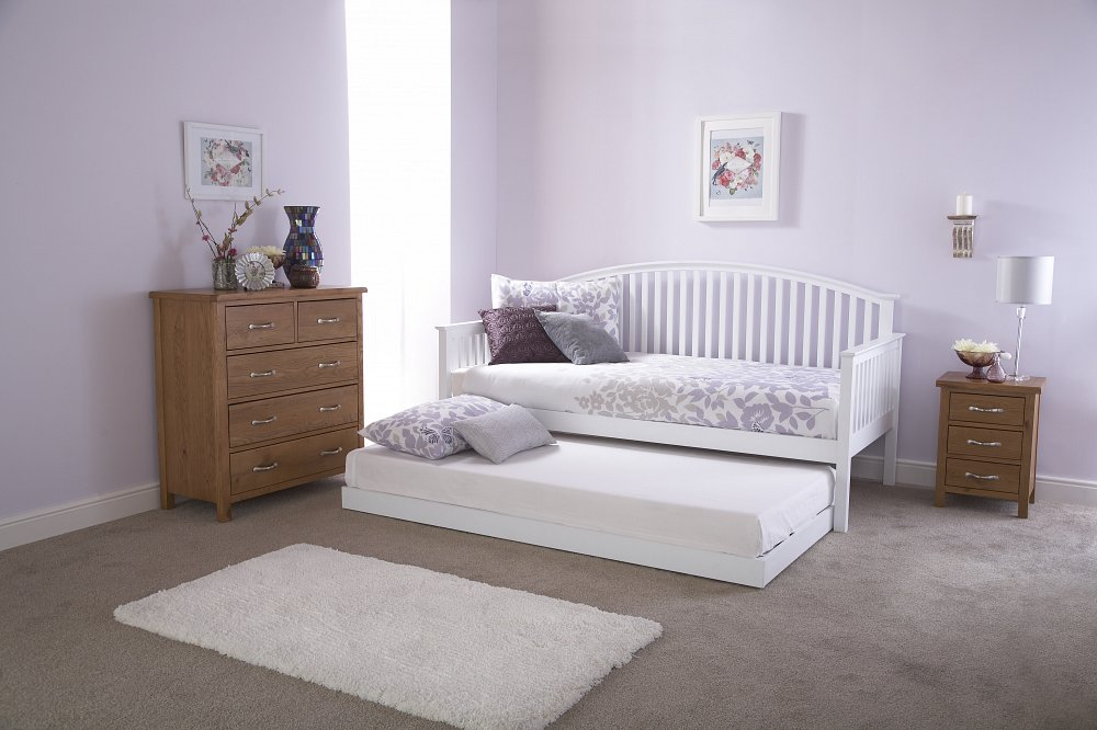 Gfw furniture madrid wooden day bed and trundle option in for Furniture madrid