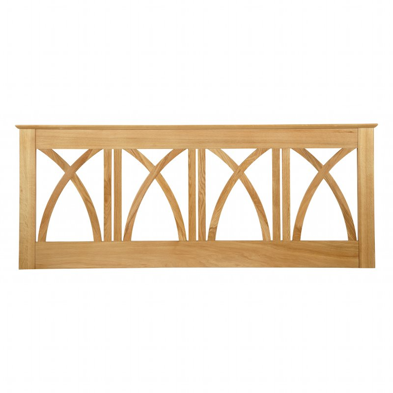 Serene Furnishings Maiden American Oak Wooden Headboard