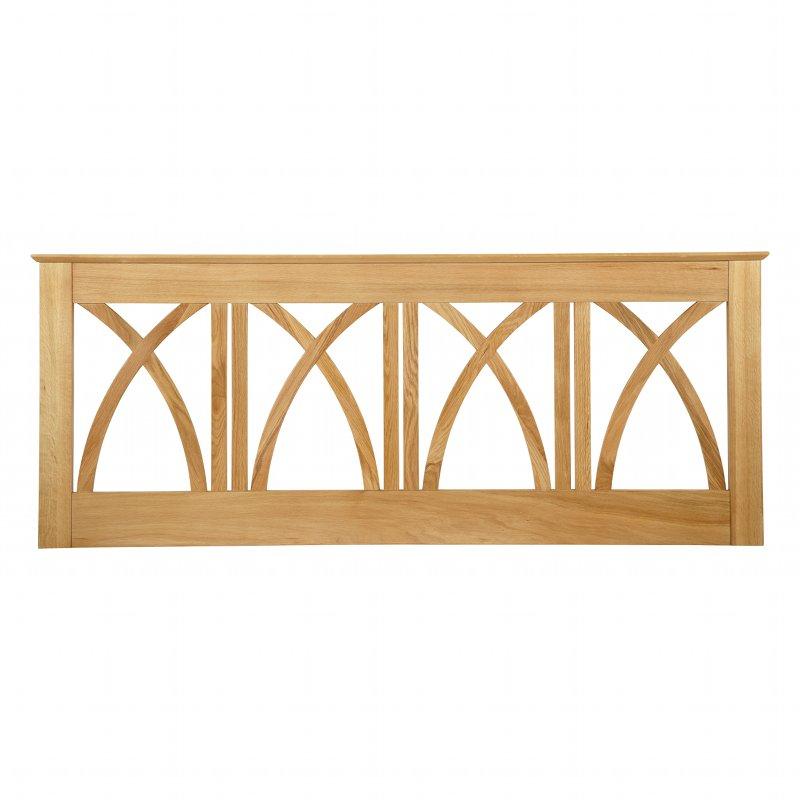 Serene Furnishings Maiden American Oak Wooden Headboard